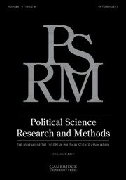 Political Science Research and Methods Volume 9 - Issue 4 -