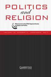 Politics and Religion Volume 10 - Issue 4 -