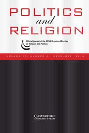 Politics and Religion Volume 11 - Issue 4 -