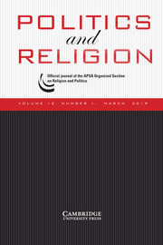 Politics and Religion Volume 12 - Issue 1 -