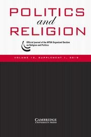 Politics and Religion Volume 12 - SupplementS1 -