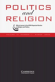 Politics and Religion Volume 13 - Issue 1 -