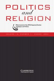 Politics and Religion Volume 14 - Issue 1 -