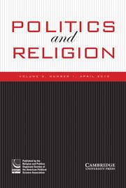 Politics and Religion Volume 3 - Issue 1 -