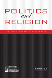 Politics and Religion Volume 4 - Issue 2 -