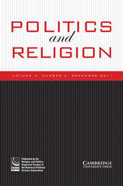 Politics and Religion Volume 4 - Issue 3 -