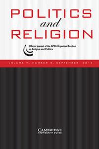 Politics and Religion Volume 7 - Issue 3 -