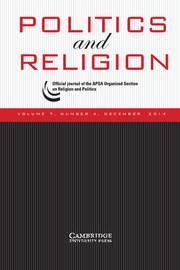 Politics and Religion Volume 7 - Issue 4 -