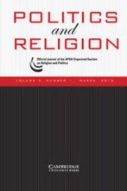 Politics and Religion Volume 9 - Issue 1 -
