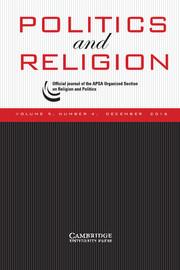 Politics and Religion Volume 9 - Issue 4 -