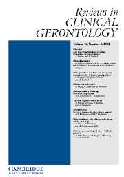 Reviews in Clinical Gerontology Volume 14 - Issue 1 -