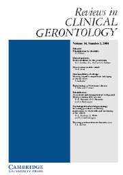 Reviews in Clinical Gerontology Volume 14 - Issue 3 -