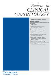 Reviews in Clinical Gerontology Volume 16 - Issue 4 -