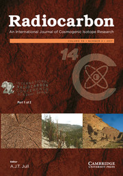 Radiocarbon Volume 59 - Issue 2 -  Proceedings of the 22nd International Radiocarbon Conference (Part 1 of 2)