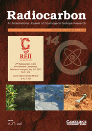 Radiocarbon Volume 60 - Issue 4 -  2nd Radiocarbon in the Environment Conference Debrecen, Hungary, July 3–7, 2017 Part 1 of 2