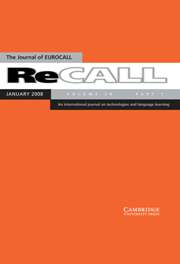 ReCALL Volume 20 - Issue 1 -