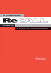ReCALL Volume 20 - Issue 3 -
