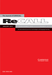 ReCALL Volume 24 - Issue 1 -