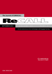 ReCALL Volume 24 - Issue 3 -  Digital games for language learning: challenges and opportunities