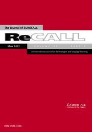 ReCALL Volume 25 - Issue 2 -
