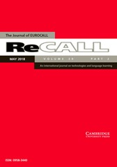 ReCALL Volume 30 - Special Issue2 -  Interactions for language learning in and around virtual worlds
