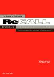 ReCALL Volume 30 - Issue 3 -