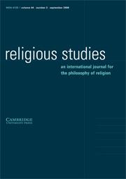 Religious Studies Volume 44 - Issue 3 -