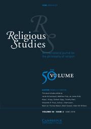 Religious Studies Volume 50 - Issue 2 -