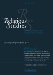 Religious Studies Volume 51 - Issue 3 -  Religious Studies at 50