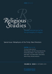 Religious Studies Volume 54 - Special Issue3 -  Metaphysics of the Trinity: New Directions