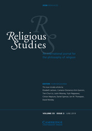 Religious Studies Volume 55 - Issue 2 -
