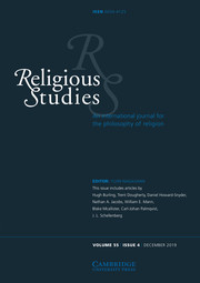 Religious Studies Volume 55 - Issue 4 -