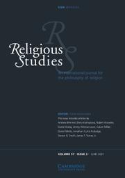 Religious Studies Volume 57 - Issue 2 -