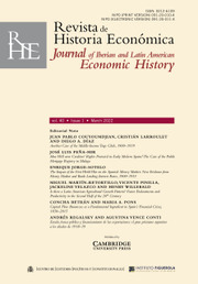 Revista de Historia Economica - Journal of Iberian and Latin American Economic History