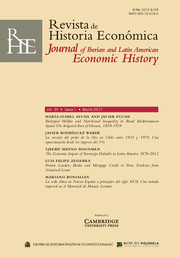 Revista de Historia Economica - Journal of Iberian and Latin American Economic History Volume 35 - Issue 1 -