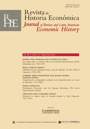 Revista de Historia Economica - Journal of Iberian and Latin American Economic History Volume 36 - Issue 2 -