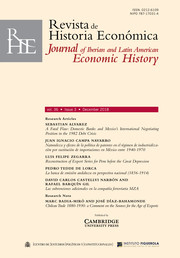 Revista de Historia Economica - Journal of Iberian and Latin American Economic History Volume 36 - Issue 3 -