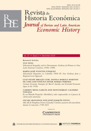 Revista de Historia Economica - Journal of Iberian and Latin American Economic History Volume 37 - Issue 3 -