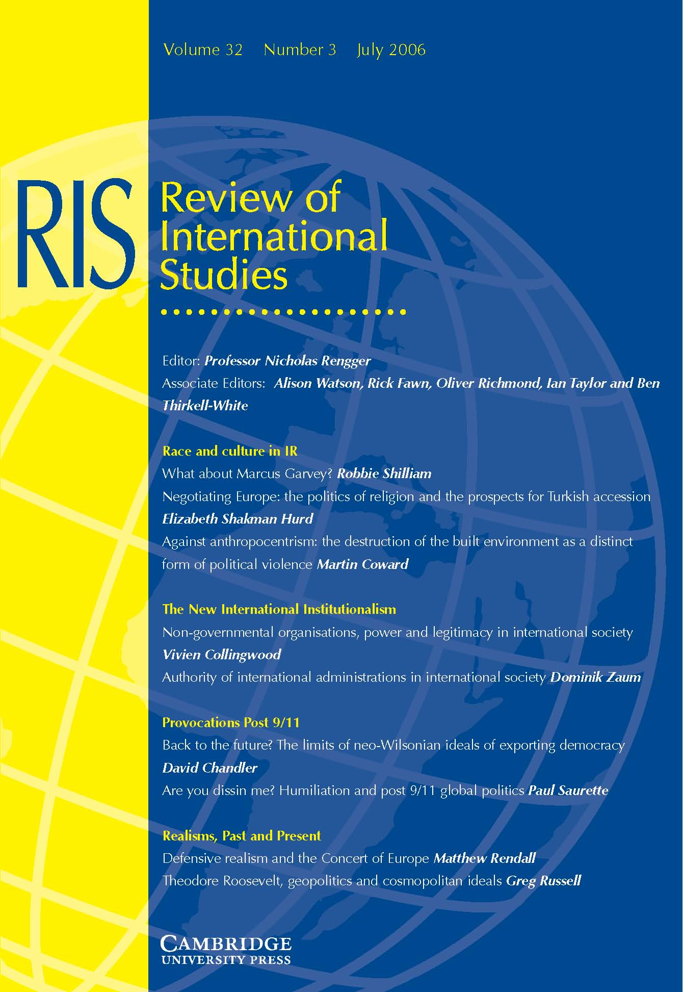 Review of International Studies Volume 32 - Issue 3 -