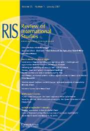 Review of International Studies Volume 33 - Issue 1 -
