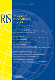 Review of International Studies Volume 33 - Issue 3 -