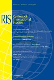 Review of International Studies Volume 34 - Issue 1 -