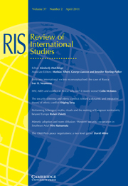 Review of International Studies Volume 37 - Issue 2 -