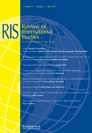 Review of International Studies Volume 37 - Issue 3 -