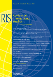 Review of International Studies Volume 38 - Issue 1 -