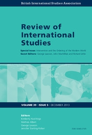 Review of International Studies Volume 39 - Issue 5 -  Intervention and the Ordering of the Modern World