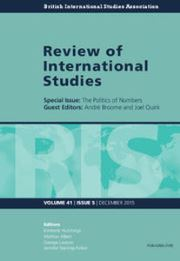 Review of International Studies Volume 41 - Issue 5 -  The Politics of Numbers