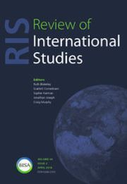 Review of International Studies Volume 44 - Issue 2 -