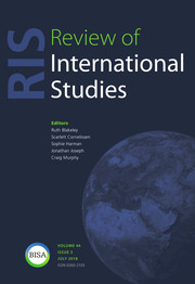 Review of International Studies Volume 44 - Issue 3 -