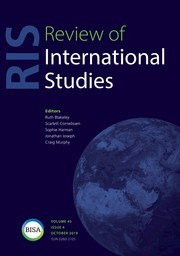 Review of International Studies Volume 45 - Issue 4 -